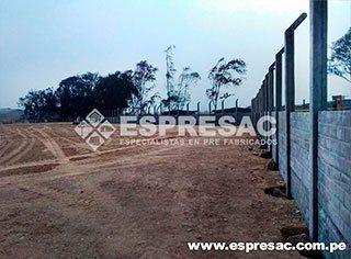 proteccion perimetrico Huachipa prefabricado concreto