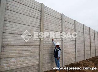 Instalacion Cerco prefabricados concreto peru