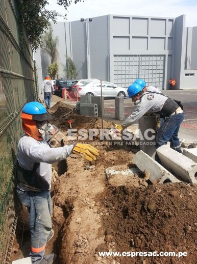 Instalacion Sardineles Callao prefabricado Peru