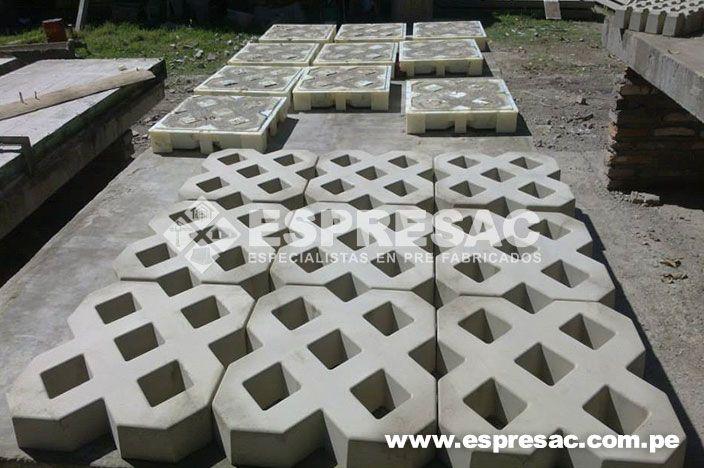 Espresac grass block prefabricados concreto hormigon for Adoquines para jardin precio
